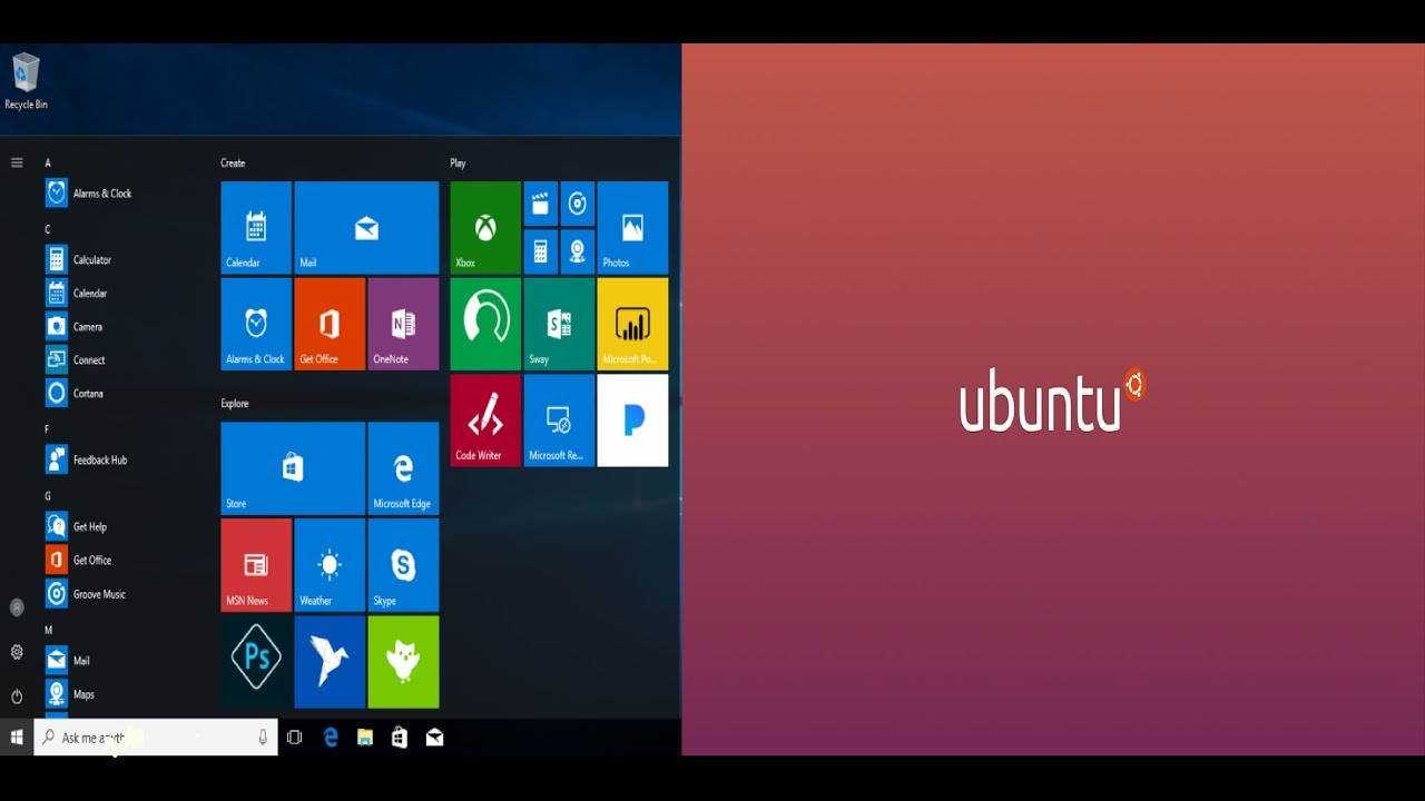 installing Ubuntu Bash on windows 10