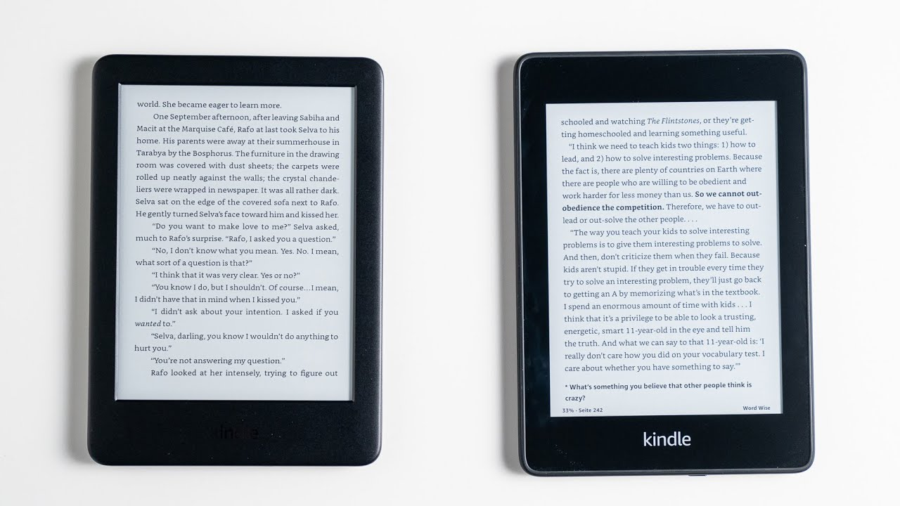 Amazon Kindle 2019 & Kindle Paperwhite Review & Comparison