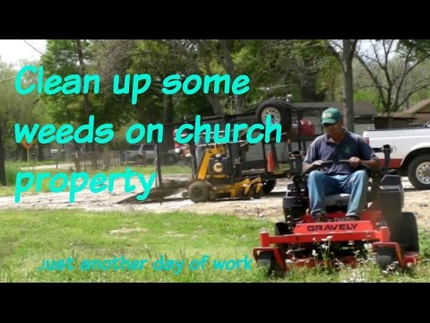 Cleaning up a small church property