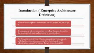 A comparison of Enterprise Architecture Framework