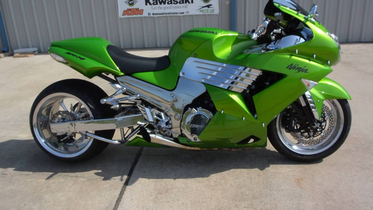 2009 kawasaki zx 14 with 330 fat rear tire overview and review youtube. Black Bedroom Furniture Sets. Home Design Ideas