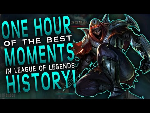 1 HOUR of the Best MOMENTS In League of Legends HISTORY! - Part 1
