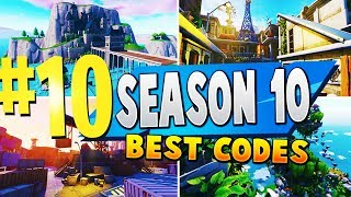 TOP 10 BEST SEASON 10 Creative Maps In Fortnite | Fortnite Season 10 Map CODES (NEW MAPS)