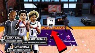 THE BALL FAMILY LEARNS HOW TO JELLY LAYUP! 🍇 BBB TAKEOVER AT THE PARK! NBA 2K18