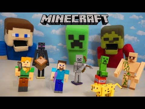 Minecraft Mattel Comic Maker Figures Series 1 Stop Motion Unboxing Fun