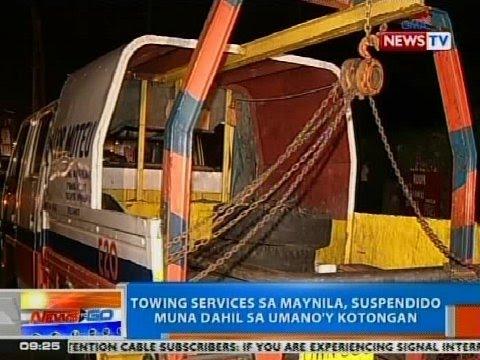 NTG: Towing services sa Maynila, sinuspinde dahil sa umano'y kotongan
