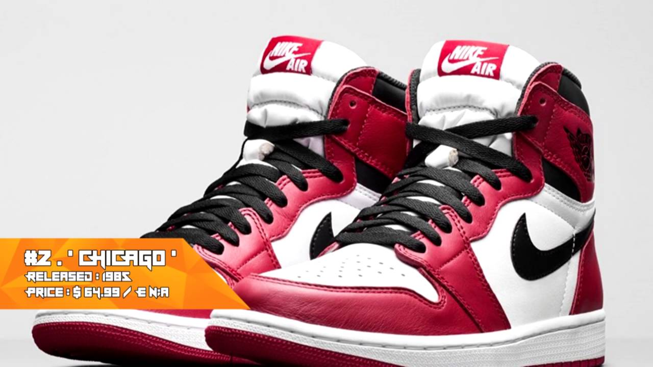 Top 5 Air Jordan 1 OG Colorways + RARE!!! - YouTube
