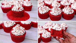 Red Velvet Cup Cake  Eggless &amp Without Oven  Yummy