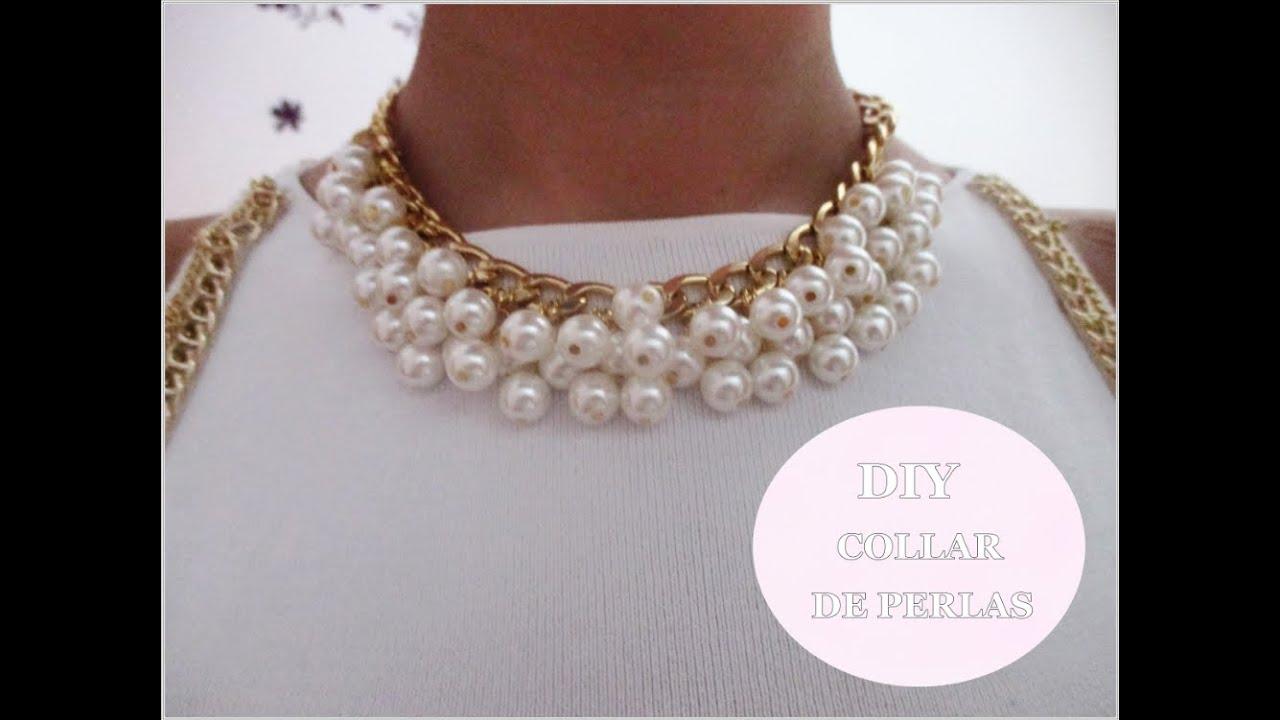 744dde1b17da ✂ DIY collar de perlas fácil paso a paso  Nerea Iglesias. - YouTube