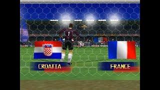 N64 International Superstar Soccer 98 - World Cup Russia 2018 - Final: France vs Croatia