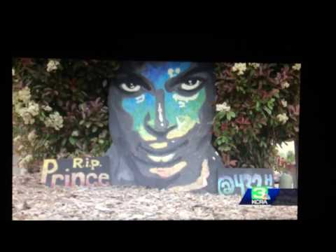 KCRA News -  Prince Mural in Citrus Heights 2018