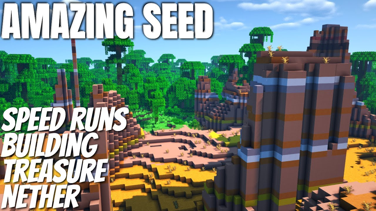Is this the BEST Minecraft Seed for Speedrunning PLUS Building PLUS Farming. Has it all! (2021)