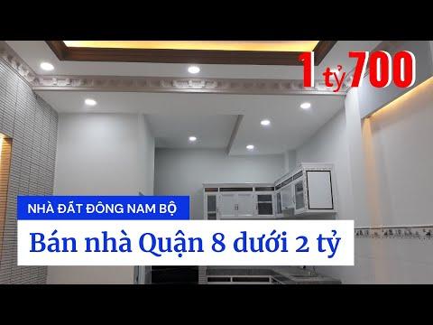Video nhà bán Quận 8 dưới 2 tỷ. Nhà mới rất đẹp, gần chợ Phú Lợi 2, đường Trịnh Quang Nghị phường 7 Quận 8