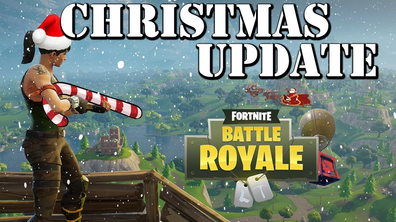 New Fortnite Update Details Candy Cane Guns Festive Supply Drop And