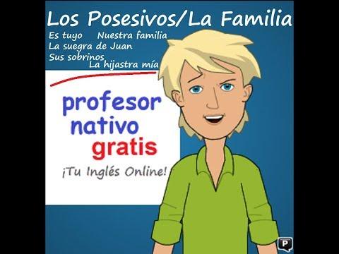 Posesivos (my, mine, 's) + La Familia en Inglés