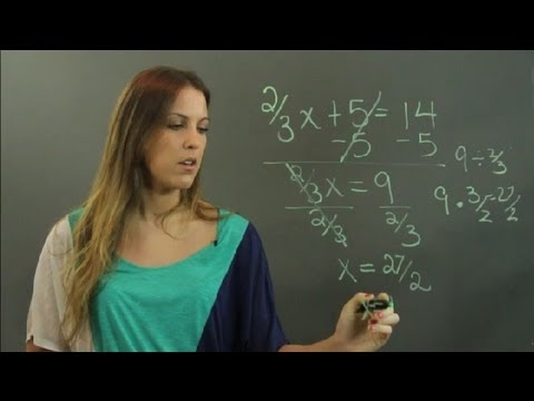 How to solve algebra problems with fractions