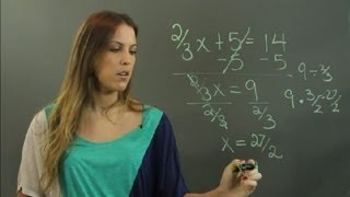 How to Solve Linear Equations in Fractions : Linear Algebra Education