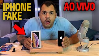 ABRINDO O IPHONE FAKE - O QUE TEM DENTRO? AO VIVO!