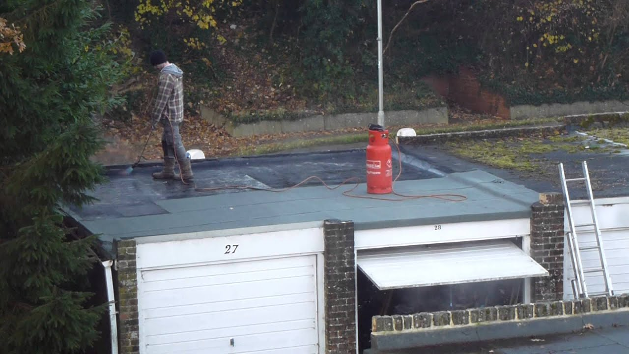 How To Fix A Leaky Roof 1   Max Long   Flame Burning   Tarpaper Roof Repair    Þakviðgerðir