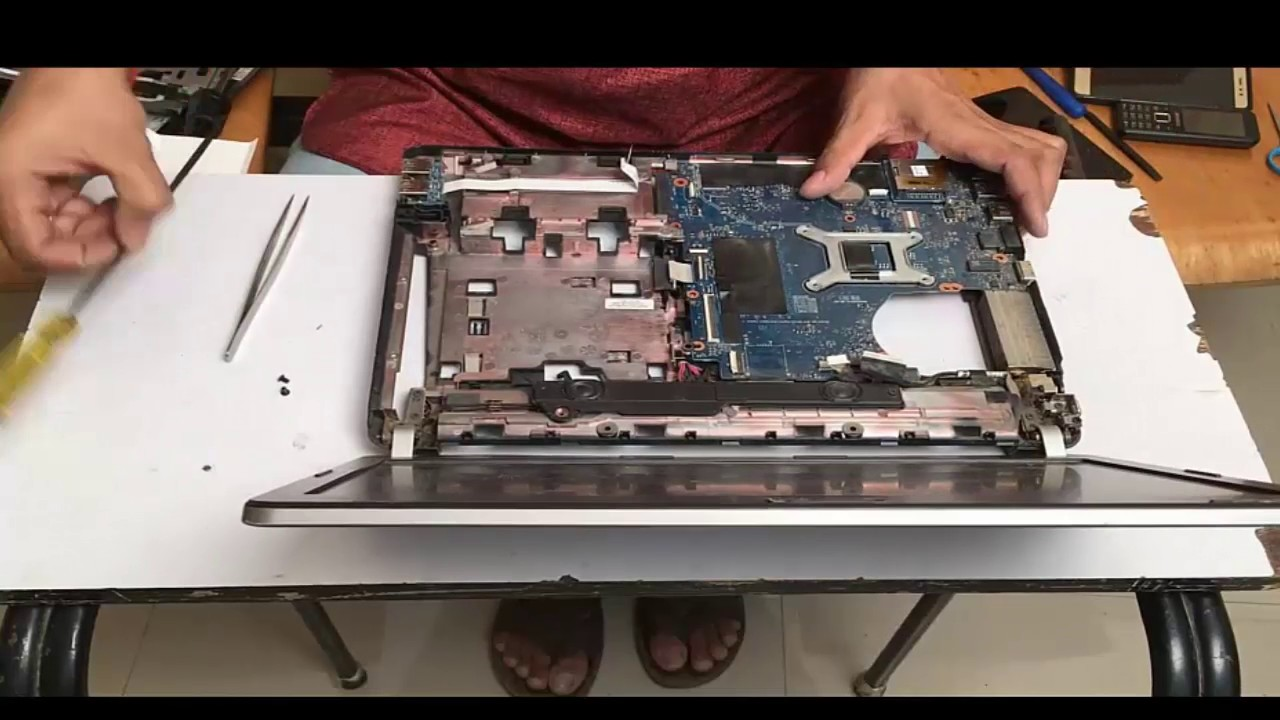 how to dismantle hp probook 4430s laptop open service