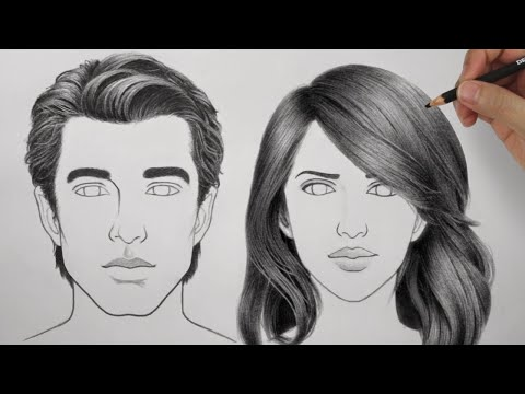 How To Draw Hair Male Female Ultimate Tutorial Luchshie Prikoly