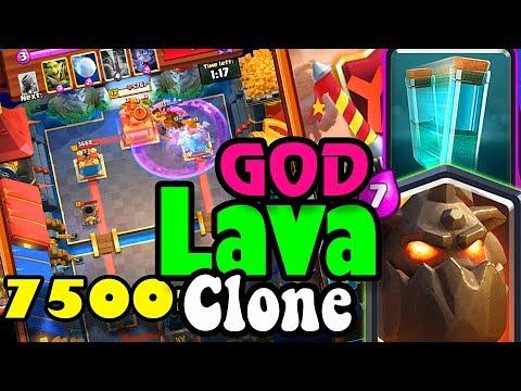 🔥 LAVA-CLONE DECK  👈 Don✌️Palestina 7500 + Gameplays - Clash Royale