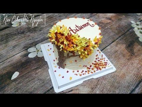 Bánh Sinh Nhật Mùa Thu Đẹp Dịu Dàng Và Lãng Mạn - Sweet and Romantic Autumn Cake Decorations   Foci