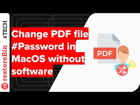 Change or encrypt PDF file in Mac OS without software, but how? 2