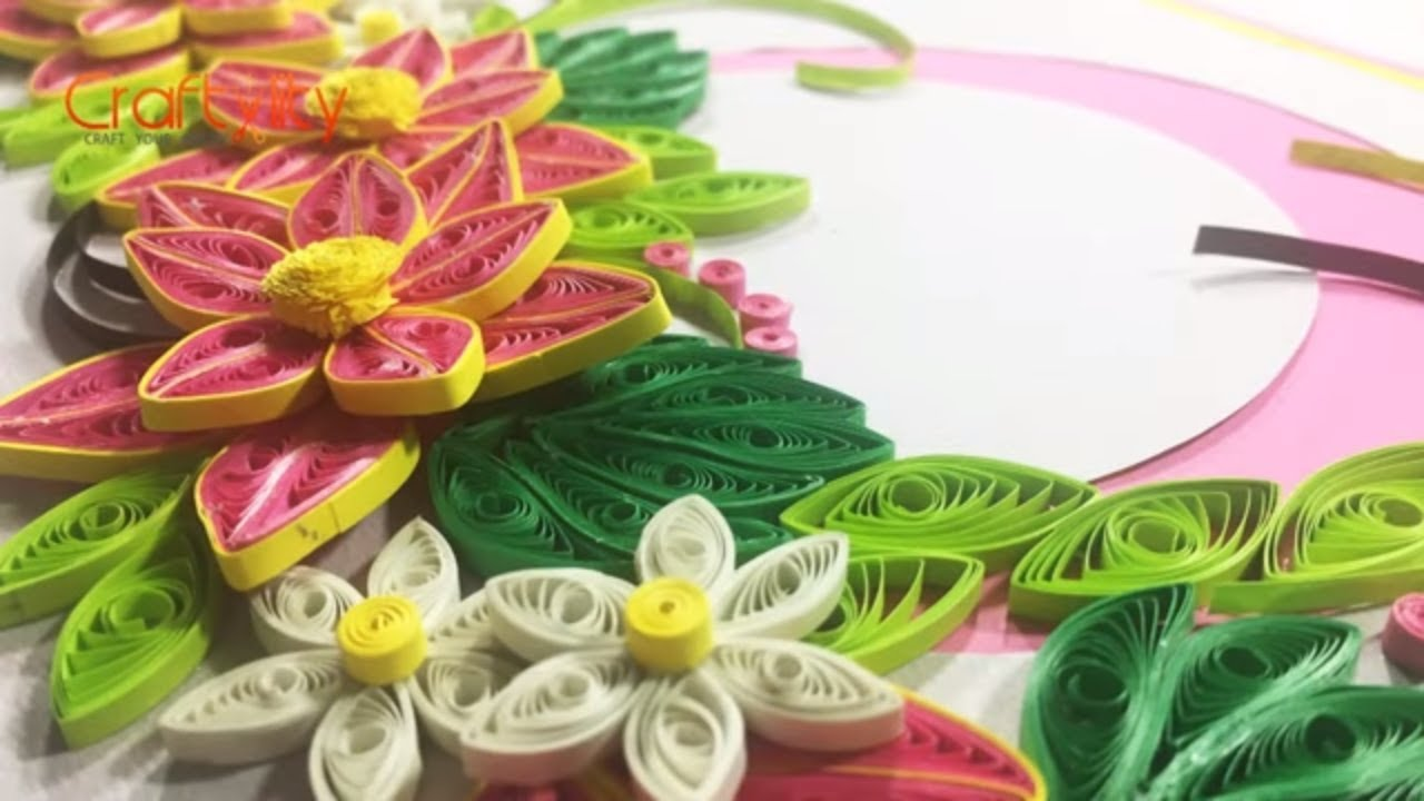 diy paper quilling flower card