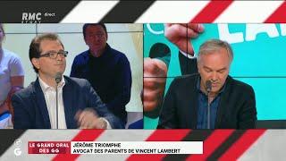 Le Grand Oral de Jérôme Triomphe, avocat des parents de Vincent Lambert- Les Grandes Gueules de RMC