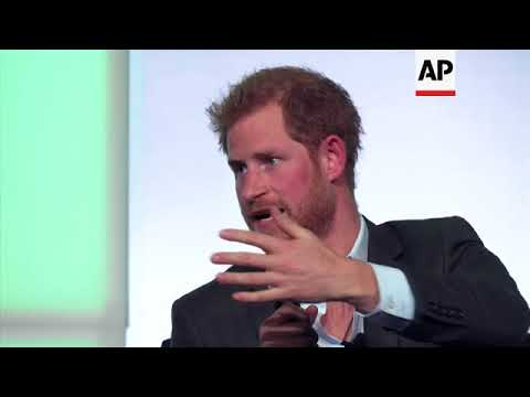 Prince Harry talks about mother, youths, at Obama summit