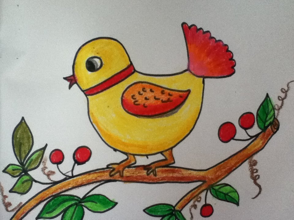 bird drawing for kids youtube