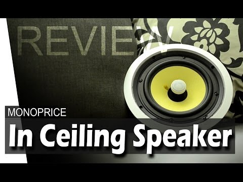 In Ceiling Speaker : Installation & Review - Monoprice