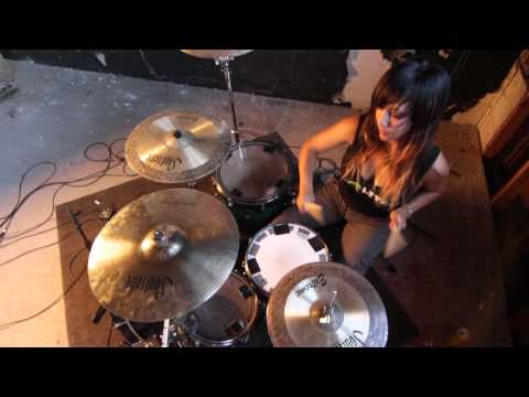 """Sara V - Nine Inch Nails - """"I Would For You"""" Drum Cover"""