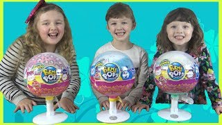Giant Pikmi Pops Surprise Lollipop Toy Opening and Review with Ava Isla and Olivia