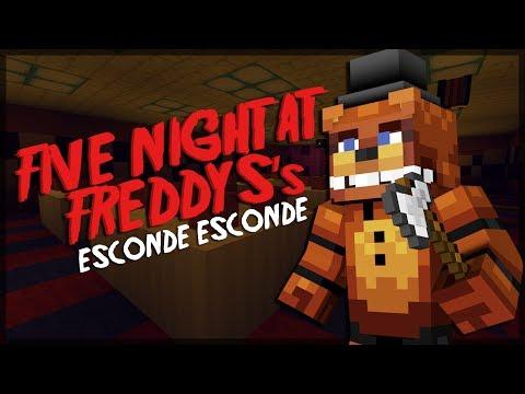 Minecraft: ESCONDE-ESCONDE DO FIVE NIGHT AT FREDDY'S! (FT. CHERRY, CAUÊ E SPOK)