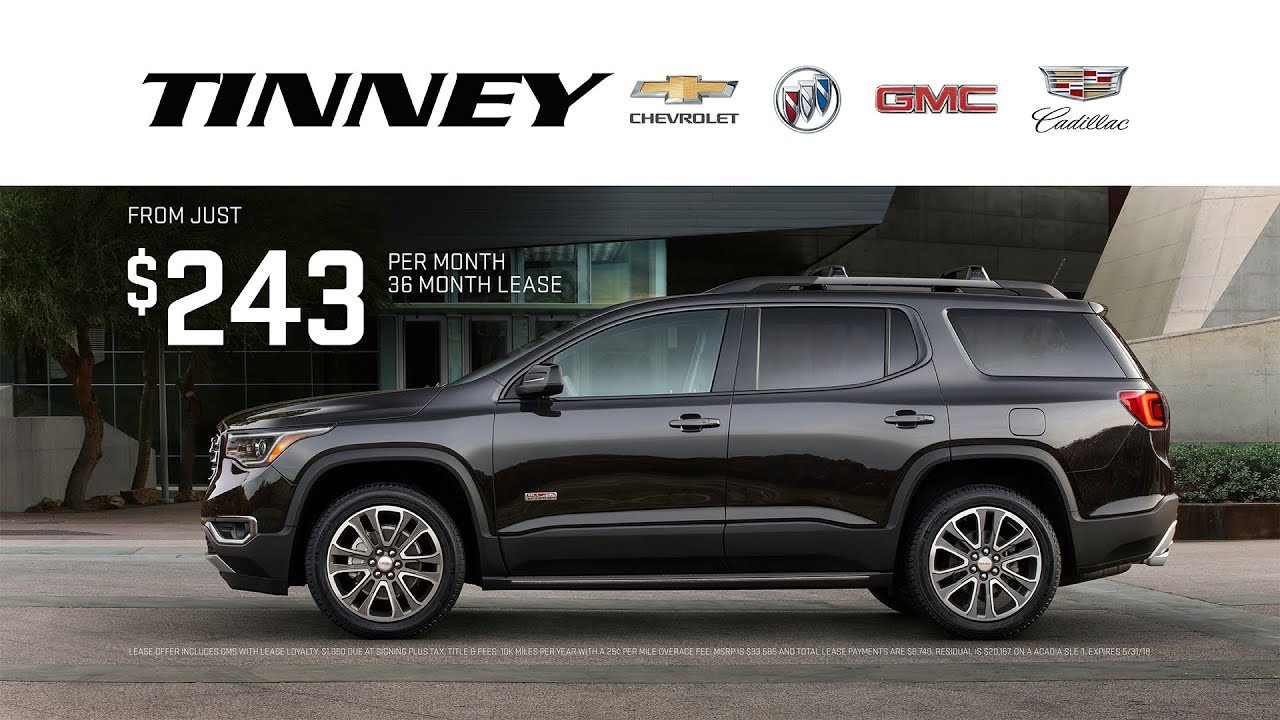 Gmc Acadia Lease >> 2018 Gmc Acadia Memorial Day Sale And Lease Deals At Tinney Automotive