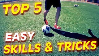 Top 5 Easy Football Skills & Tricks To Learn For Beginners(World Cup 2014 Tricks For Beginners: Amazing Soccer Football Skills like Neymar, Rodriguez, Messi, Robben & van Persie. Lerne einfache & effektive 1vs1 ..., 2014-07-03T22:45:29.000Z)