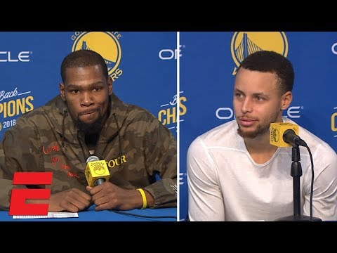 Kevin Durant and Steph Curry say Warriors can be better, but are not worried | NBA 2018-19
