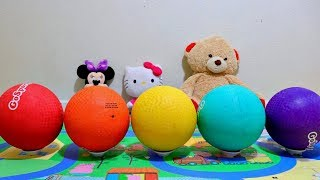 Learn Colors with Playground Balls and Colored Dodgeballs for Toddlers and Babies
