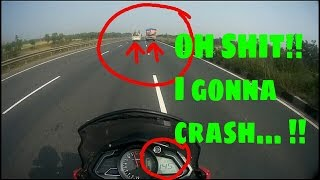 pulsar as 200 top speed   near death   must watch