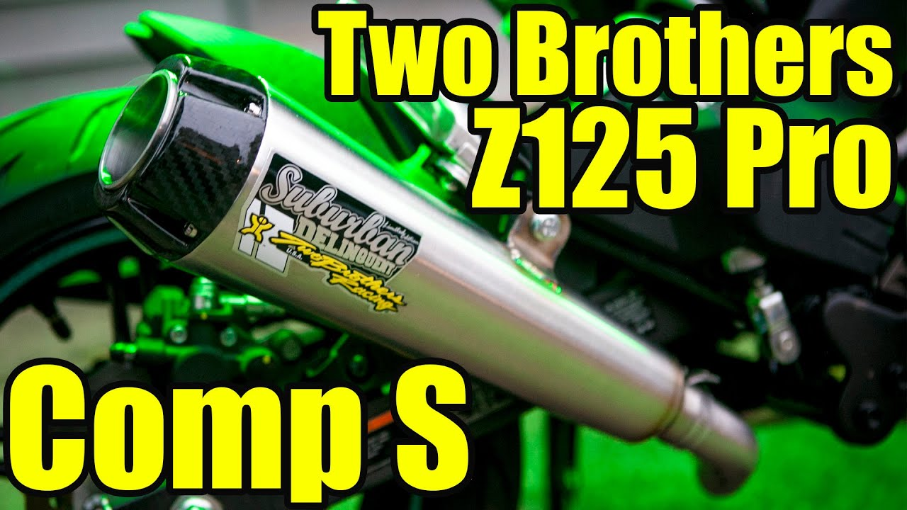 Two Brothers Comp S For Z125 - Install and Sound Check