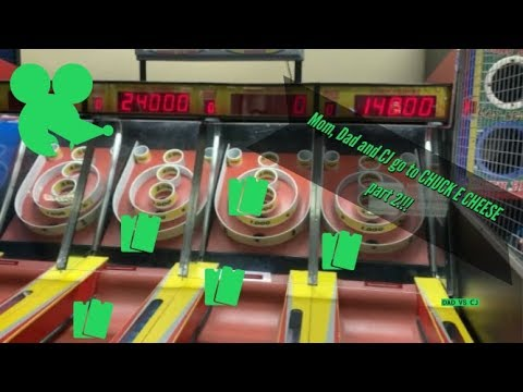 """CJ is having way to much fun at CHUCK E CHEESE""""S playing ARCADE GAMES!!!"""
