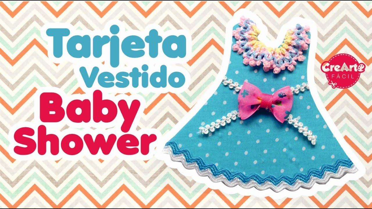 Tarjeta Vestido Para Baby Shower Invitación O Recordatorio Fácil Diy