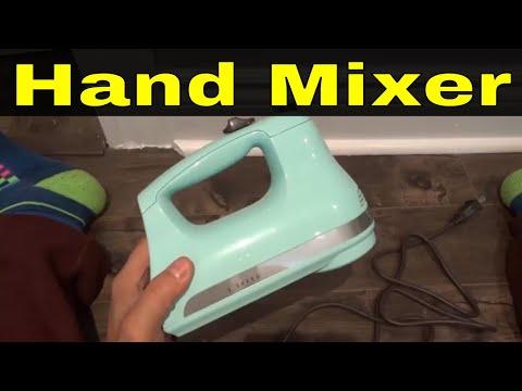 KitchenAid 5 Speed Hand Mixer Review-Ice Blue
