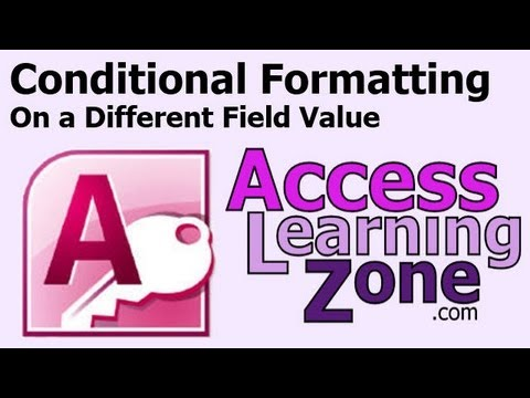 Microsoft Access Conditional Formatting Expression