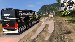 Scania Off-Road Bus Driving | Steering wheel + Shifter Logitechg29 gameplay | Euro truck simulator 2