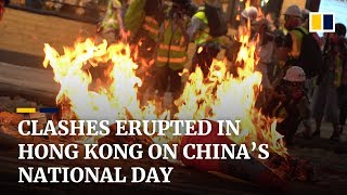As it happened: Clashes erupted in Hong Kong on China's National Day