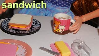How to make a miniature doll sandwich - miniature crafts DIY