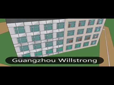 3D aluminum composite panel/sheet project for building in Nigeria